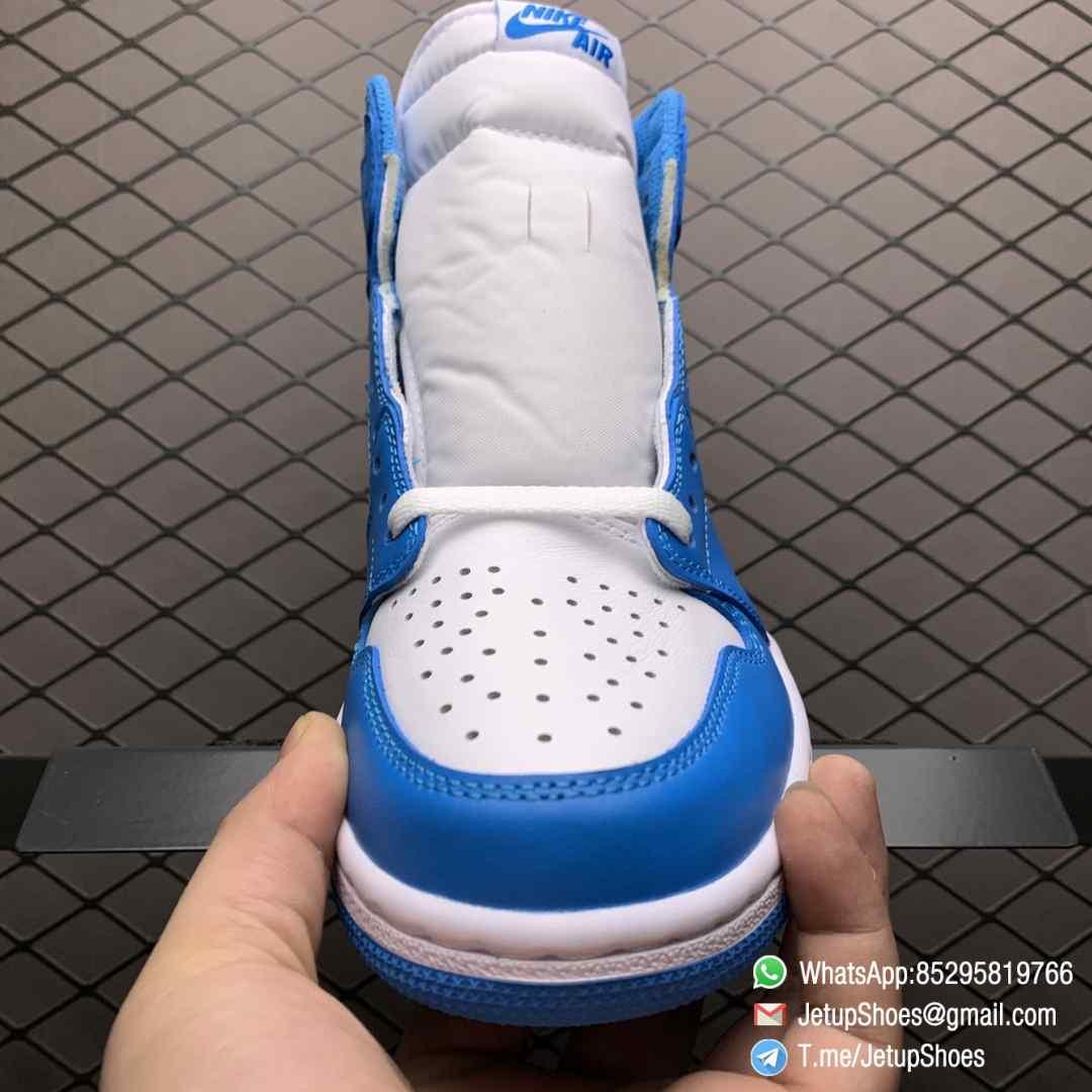 Best Replica Sneakers Air Jordan 1 Retro High OG UNC SKU 555088 117 Blue and White Colorway Top Quality RepSneakers 05