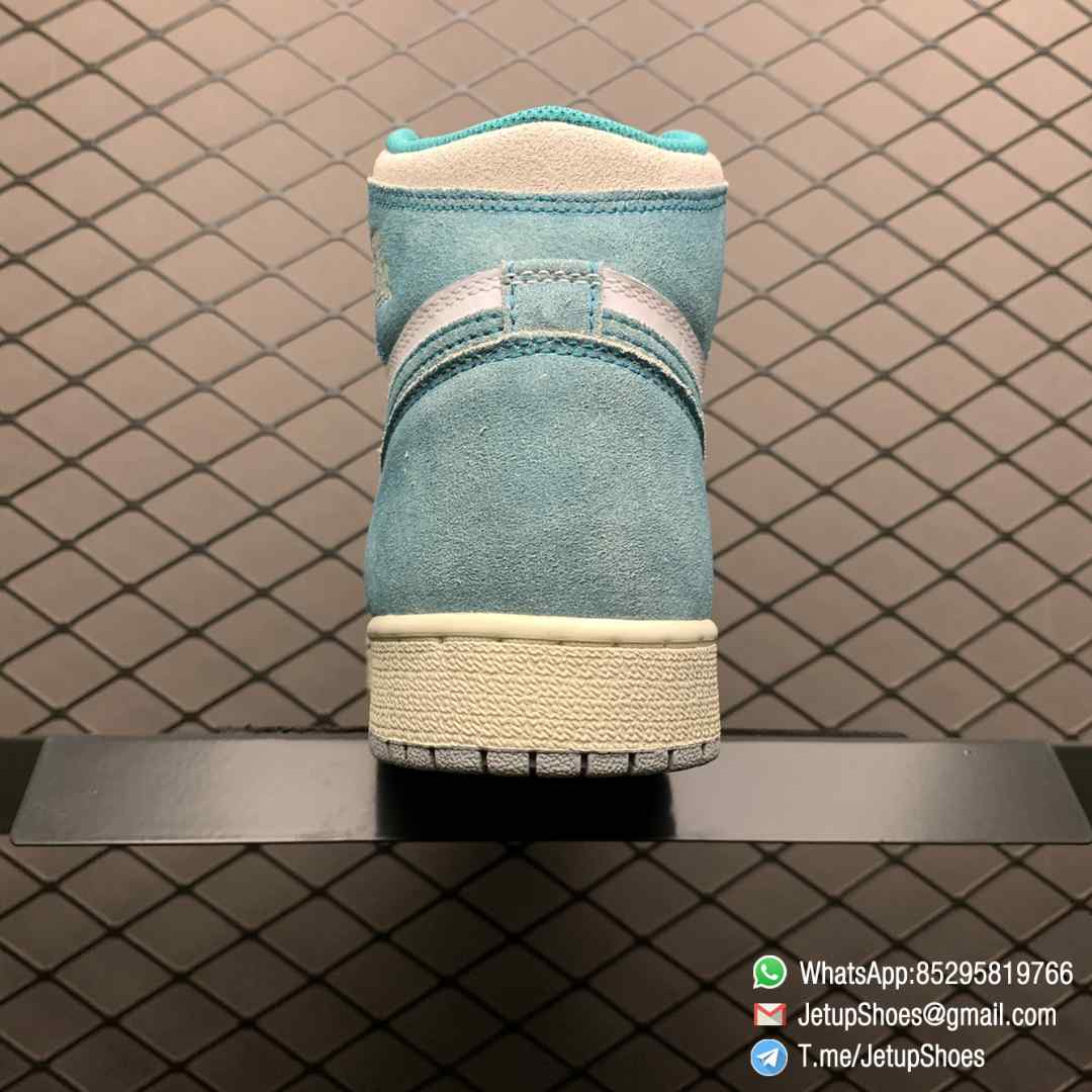 Best Replica Sneakers Air Jordan 1S Retro High OG GS Turbo Green SKU 575441 311 White and Teal Leather Upper 04