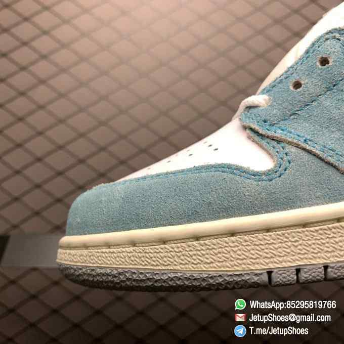 Best Replica Sneakers Air Jordan 1S Retro High OG GS Turbo Green SKU 575441 311 White and Teal Leather Upper 06
