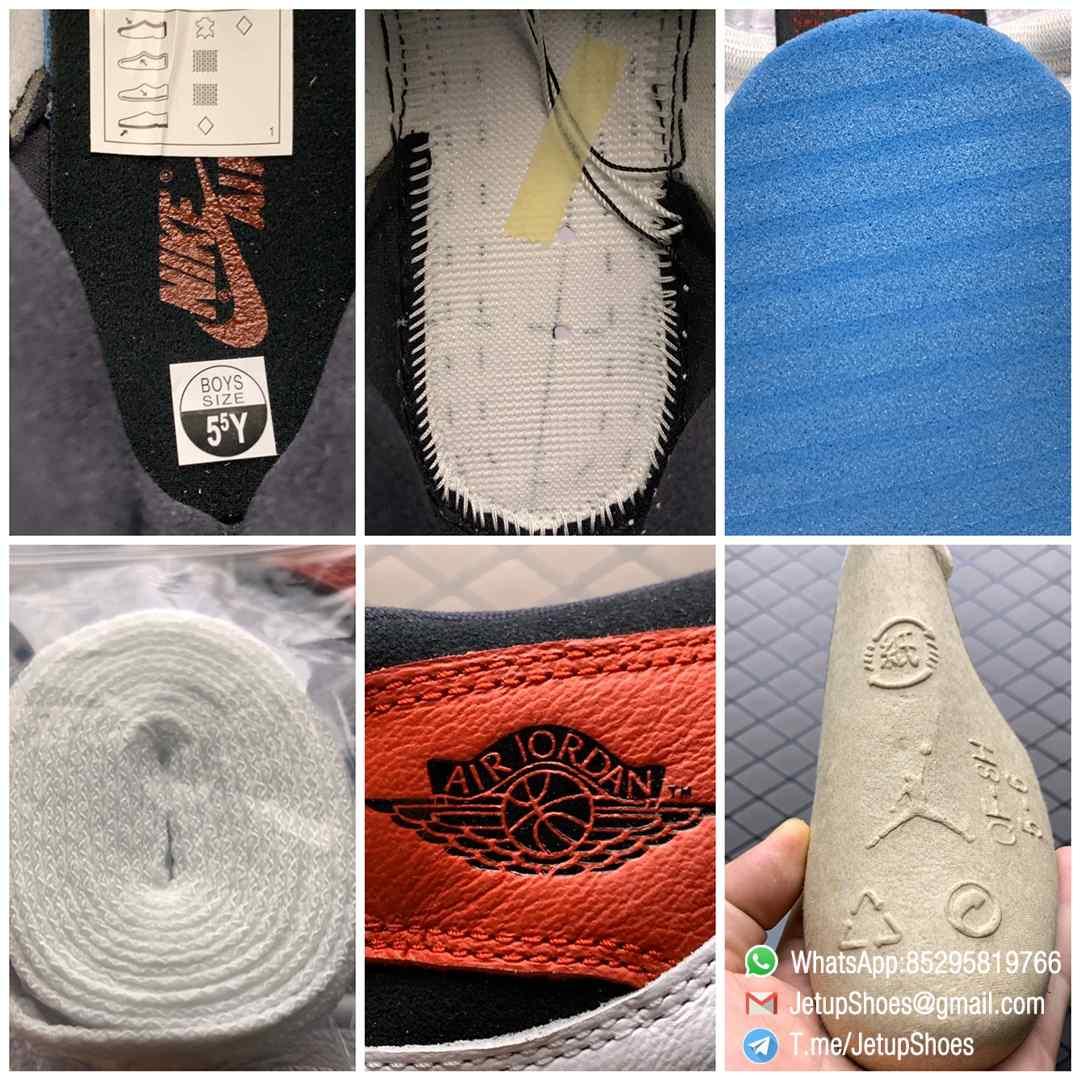 Jordan 1 Retro High OG Smoke Grey SKU 555088 126 Varsity Red Ankle Flap Neutral Tones Upper Grey Suede Overlays 09