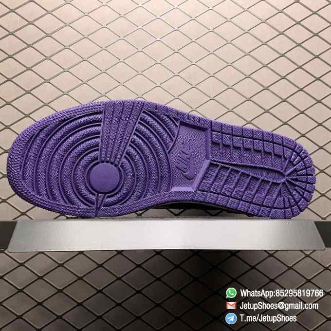 RepSneaker Jordan 1 Retro High Court Purple White SKU 555088 500 White Upper Court Purple Overlays Black Detailing 05