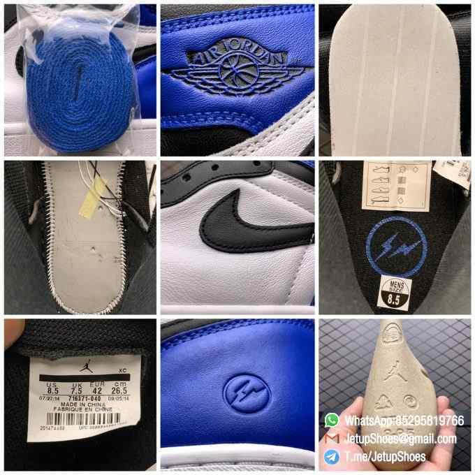 RepSneakers Fragment Design x Air Jordan 1 Retro High OG SKU 716371 040 Best Replica Sneakers Top Rep Snkrs 09