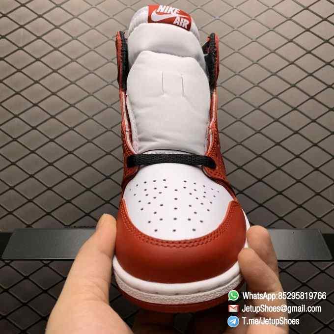 RepSnkrs Womens Air Jordan 1 Retro High OG GS Chicago 2015 SKU 575441 101 Varsity Red Upper Outsole White Midsole 03
