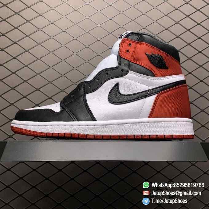 Top Clone Quality Sneakers Wmns Air Jordan 1 Retro High Satin Black Toe SKU CD0461 016 Super RepSneaker 01