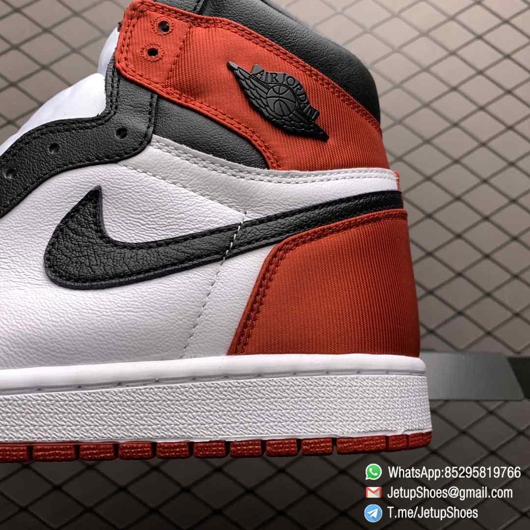 Top Clone Quality Sneakers Wmns Air Jordan 1 Retro High Satin Black Toe SKU CD0461 016 Super RepSneaker 05