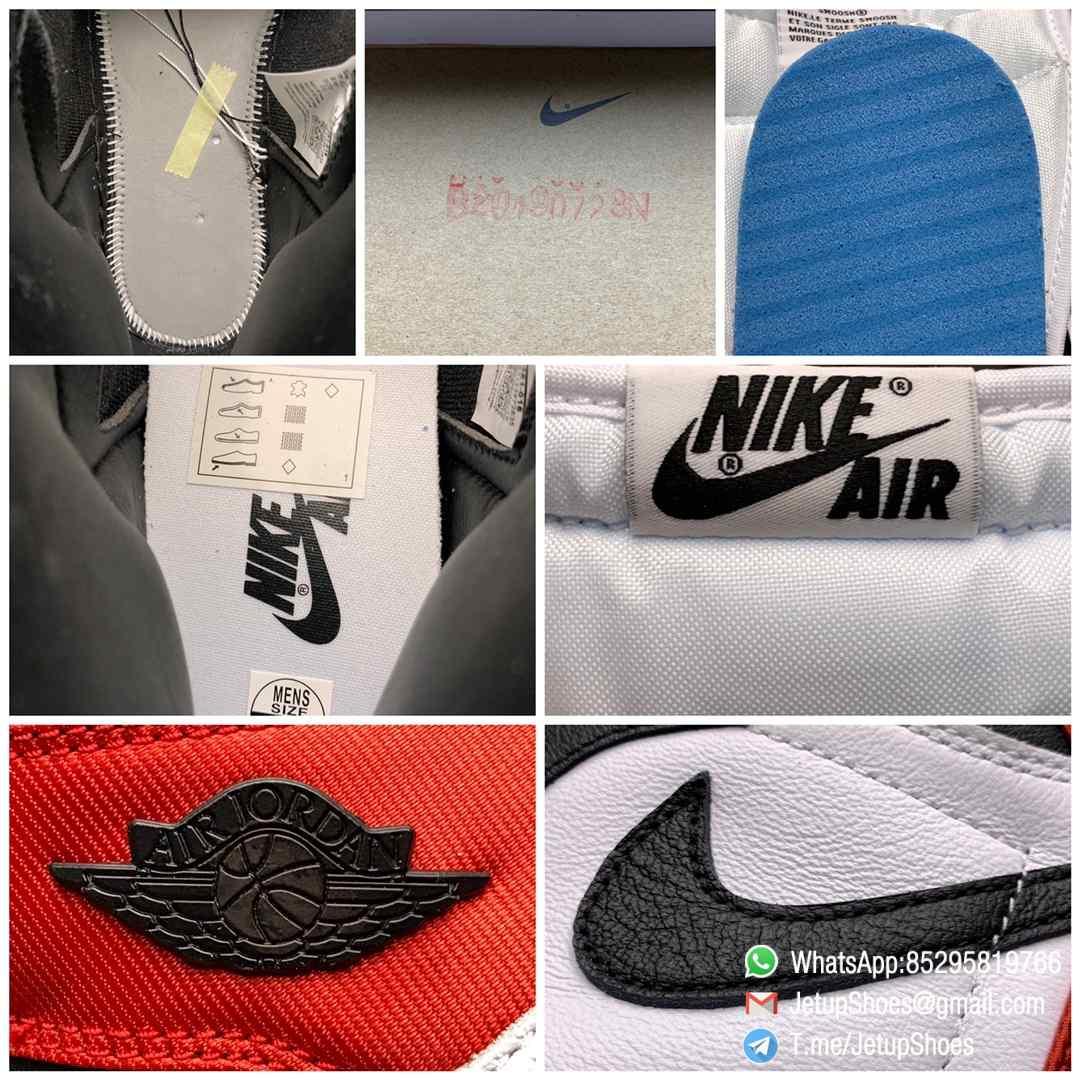 Top Clone Quality Sneakers Wmns Air Jordan 1 Retro High Satin Black Toe SKU CD0461 016 Super RepSneaker 09