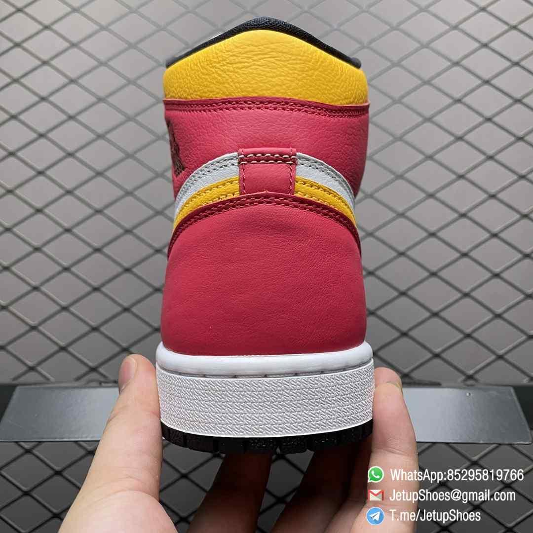 Top Fake Shoes Jordan 1 Retro High OG Light Fusion Red SKU 555088 603 White Upper Dark Pink Overlays Orange Accents Land 04