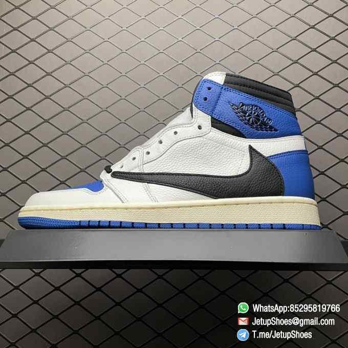 Top Fake Sneakers Fragment Design x Travis Scott x Air Jordan 1 Retro High SKU DH3227 105 Signature Inverted Swoosh 01
