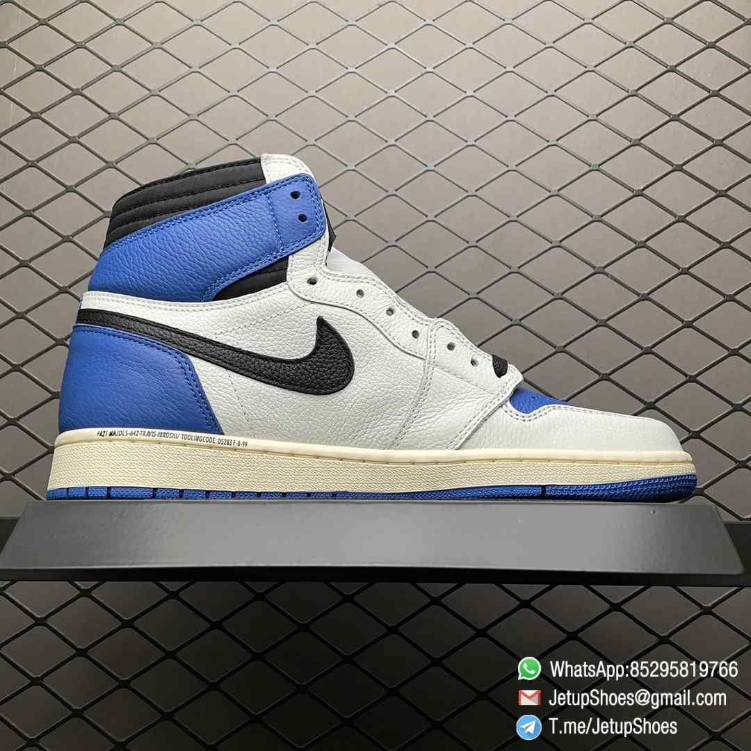 Top Fake Sneakers Fragment Design x Travis Scott x Air Jordan 1 Retro High SKU DH3227 105 Signature Inverted Swoosh 02