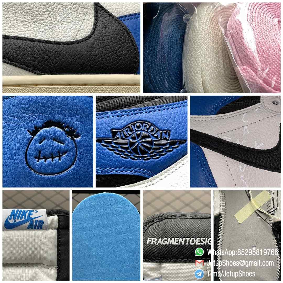 Top Fake Sneakers Fragment Design x Travis Scott x Air Jordan 1 Retro High SKU DH3227 105 Signature Inverted Swoosh 09
