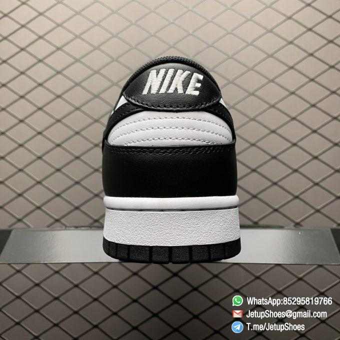 Best Replica Shoes Nike Dunk Low Black White White Leather Base Upper Black Overlays Around Toe and Heel SKU DD1391 100 04