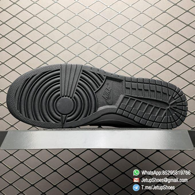 Best Replica Shoes Nike Dunk Low Black White White Leather Base Upper Black Overlays Around Toe and Heel SKU DD1391 100 05