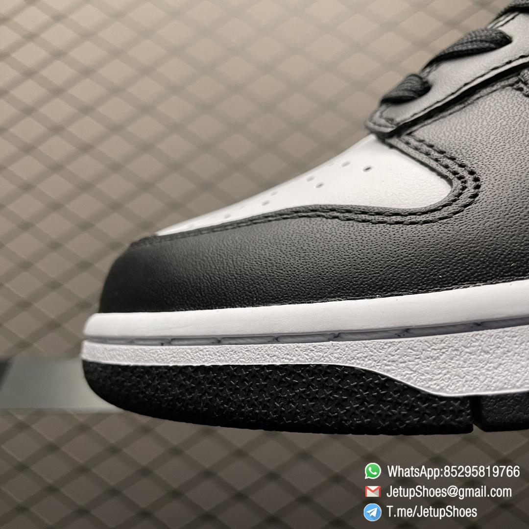 Best Replica Shoes Nike Dunk Low Black White White Leather Base Upper Black Overlays Around Toe and Heel SKU DD1391 100 06