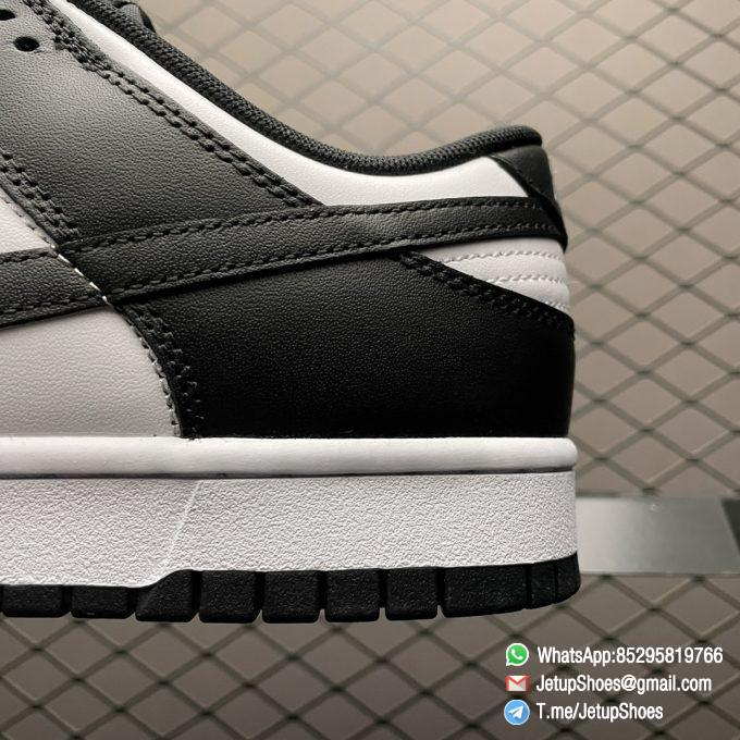 Best Replica Shoes Nike Dunk Low Black White White Leather Base Upper Black Overlays Around Toe and Heel SKU DD1391 100 07